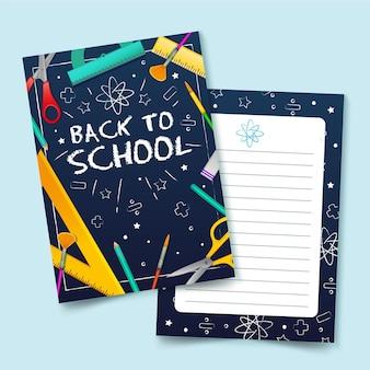 Plantilla creativa de la tarjeta de regreso a la escuela
