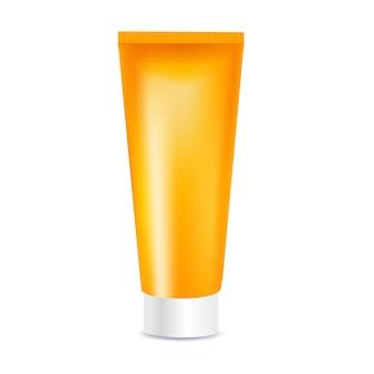 Plantilla de crema cosmética de protección solar