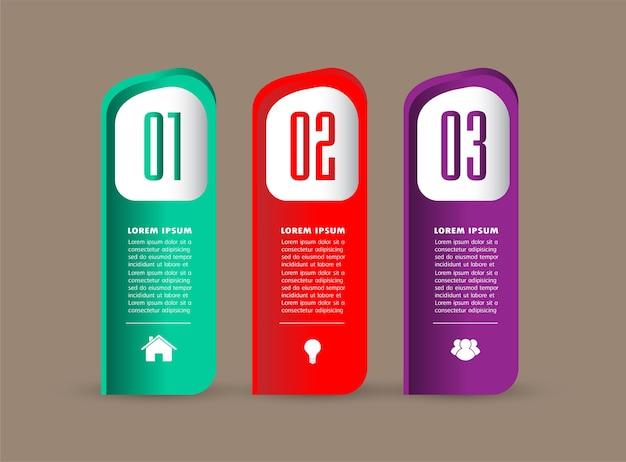 Plantilla de cuadro de texto moderno, banner infografía