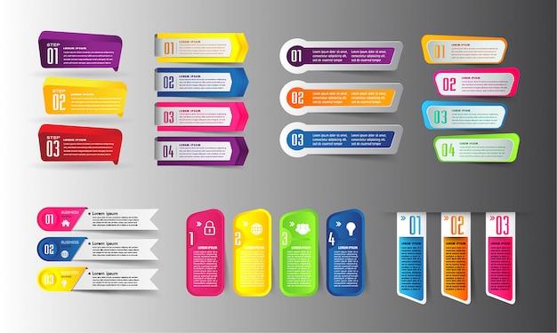Plantilla de cuadro de texto de papel moderno, banner infografía