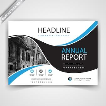 Plantilla de cubierta de folleto de forma horizontal