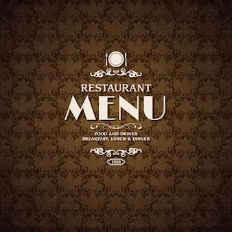 Plantilla de cubierta de menú de cafetería de restaurante