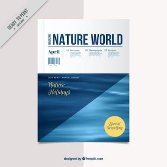 Plantilla de cubierta de revista de naturaleza