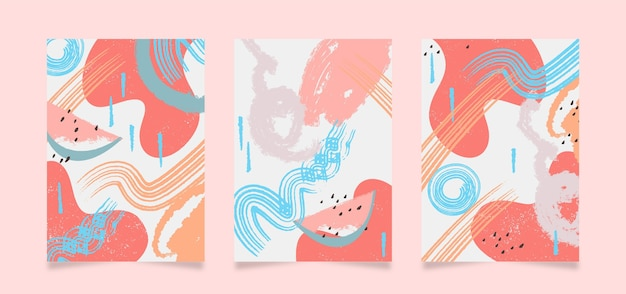 Plantilla de cubiertas de formas abstractas