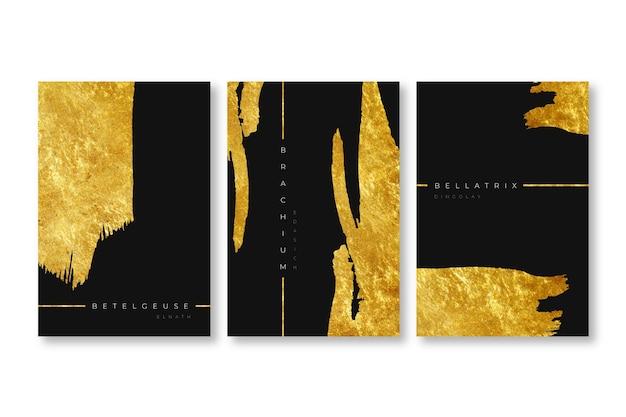 Plantilla de cubiertas de papel dorado de lujo