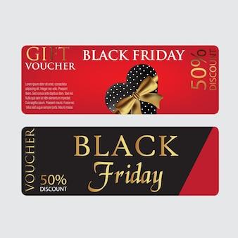 Plantilla de cupón de tarjeta de viernes negro