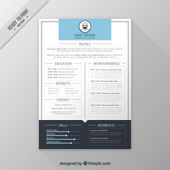 Plantilla de currículum de diseño gráfico