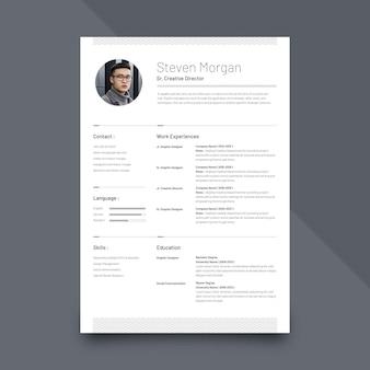 Plantilla de currículum minimalista