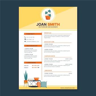 Plantilla de curriculum vitae online