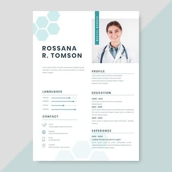 Plantilla de currículums médicos