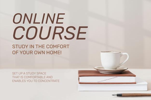 Plantilla de curso en línea tecnología futura
