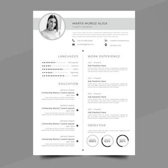 Plantilla cv minimalista vector gratuito