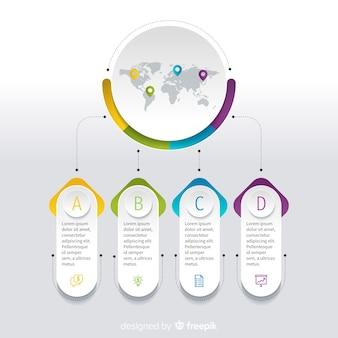 Plantilla de datos de infografía