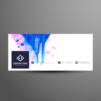 Plantilla de banner de línea de tiempo de facebook con estilo abstracto
