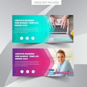 Plantilla de banner web empresarial