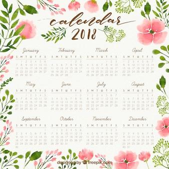 Plantilla de calendario 2018