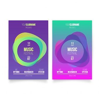 Plantilla de carteles de música moderna