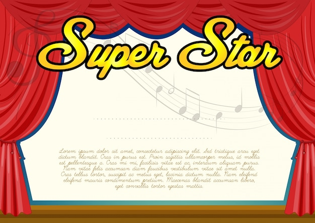 Plantilla de certificación para super star
