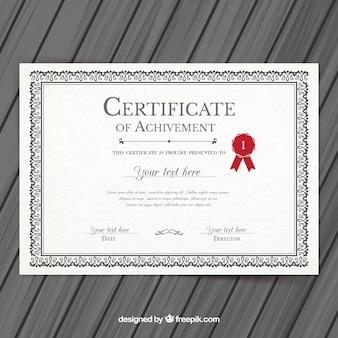 Plantilla de certificado de la universidad