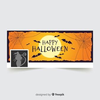 Plantilla de cover de facebook de halloween