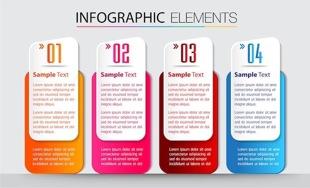 Plantilla de cuadro de texto en papel, banner infografía