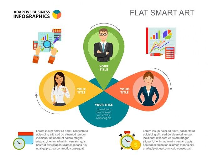 Plantilla de diapositiva de concepto de análisis de negocio