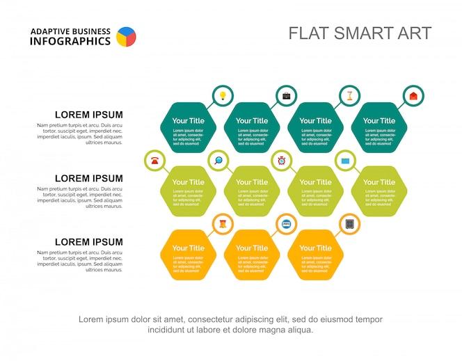 Plantilla de diapositiva de opciones de negocio. gráfico. concepto creativo para infografía, informe