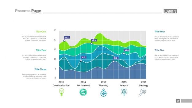 Plantilla de diapositivas de datos estadísticos