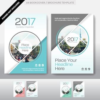 Plantilla de diseño de cubierta de libro de negocios de fondo de la ciudad