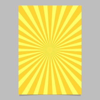 Plantilla de diseño de folleto abstracto sunburst