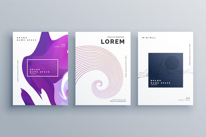 Plantilla de diseño de folleto creativo en estilo minimalista tamaño a4