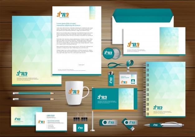 Plantilla de diseño de identidad de negocios corporativos