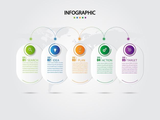 Plantilla de diseño de infografía empresarial