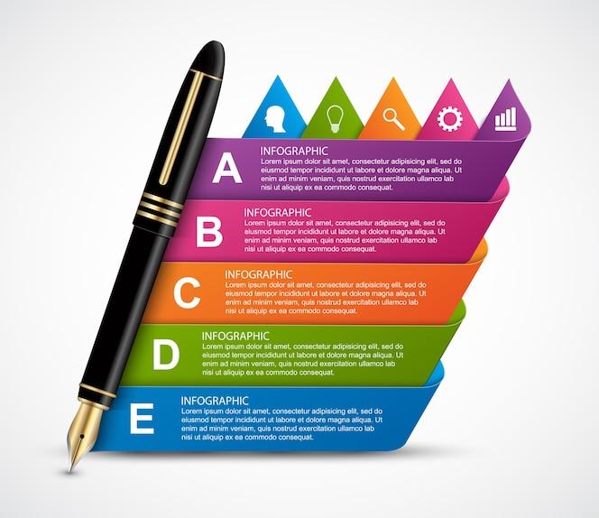 Plantilla de diseño de infografía empresarial.
