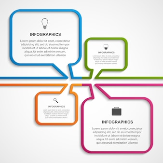 Plantilla de diseño de infografías abstractas