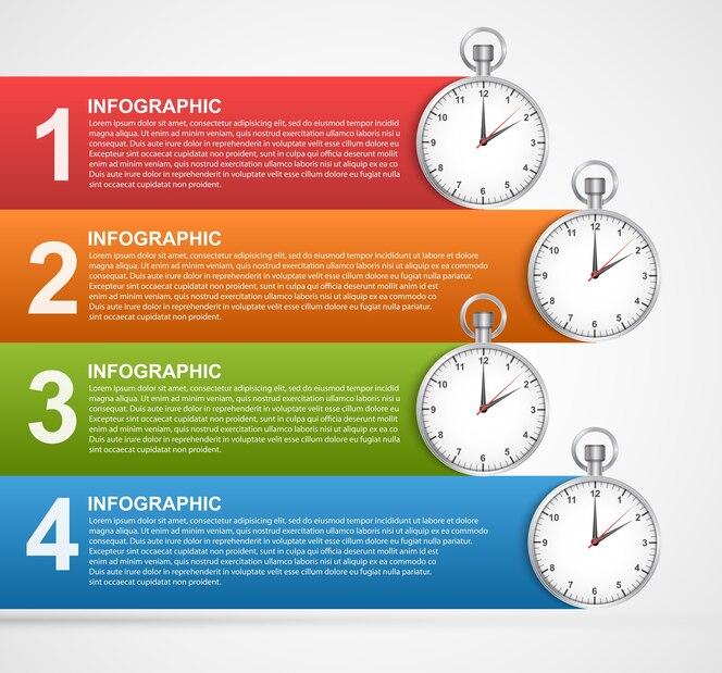 Plantilla de diseño de infografías.