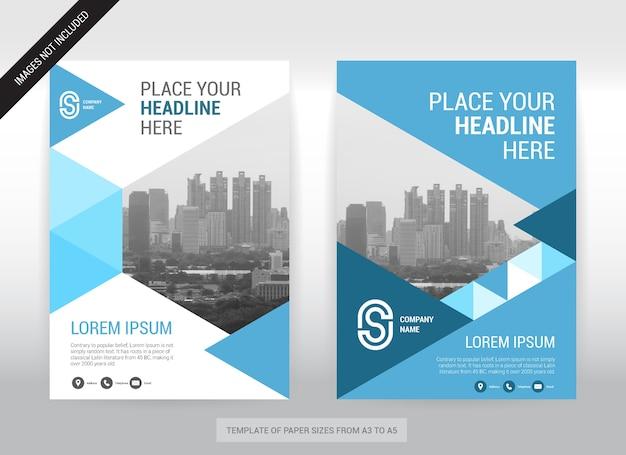 Plantilla de diseño de portada de negocio ciudad fondo.