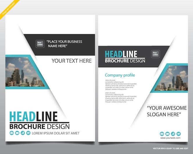 Plantilla de diseño de revista de cartel moderno, informe anual para la presentación.