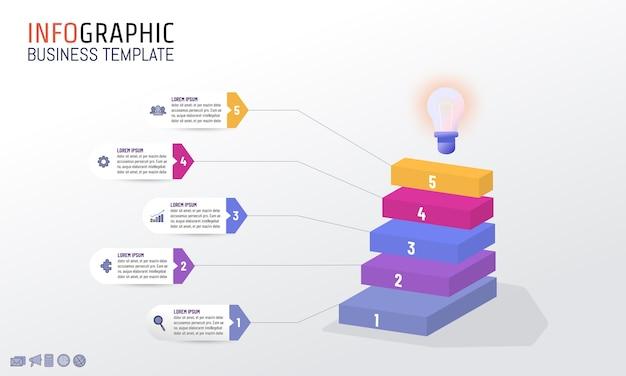 Plantilla de diseño infográfico por concepto de negocio