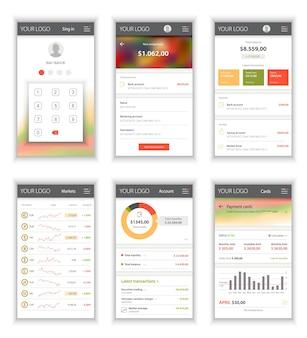 Plantilla de diseño para la interfaz de usuario para aplicaciones móviles