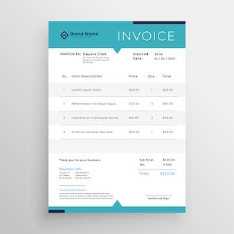Plantilla de factura moderna para su negocio