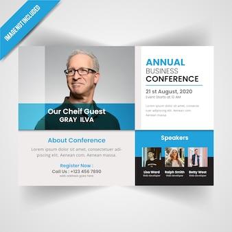 Plantilla de flyer anual de conferance