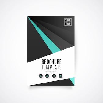 Plantilla de folleto abstracto con diseño elegante