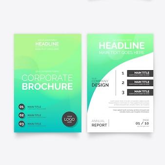 Plantilla de folleto abstracto verde
