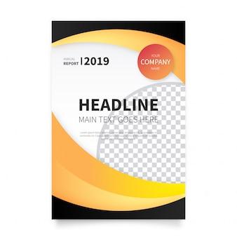 Plantilla de folleto comercial en diseño moderno