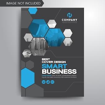 Plantilla de folleto de cubierta de negocio moderno