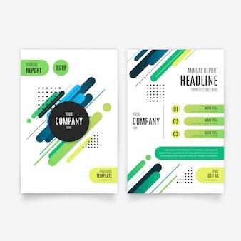 Plantilla de folleto de informe anual moderno