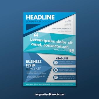 Plantilla de folleto de negocios con diseño plano