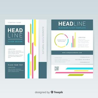 Plantilla de folleto de negocios con estilo colorido