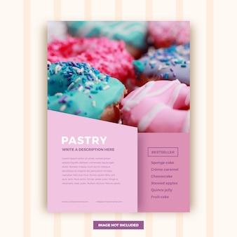 Plantilla de folleto de repostería abstracta